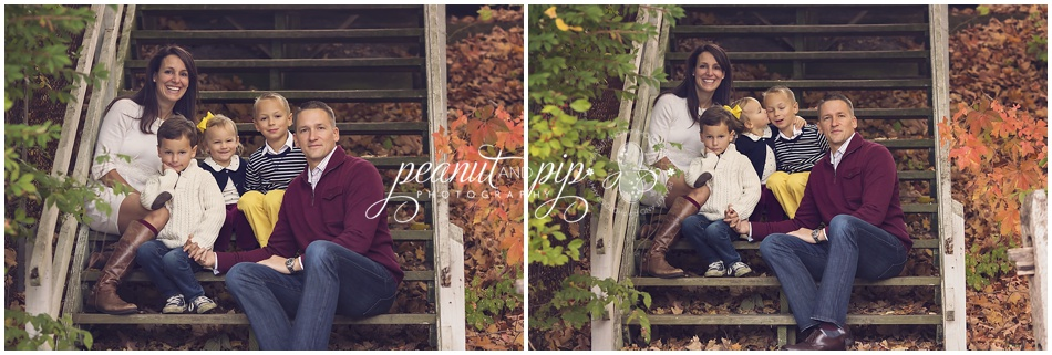 fall extended family photo shoot