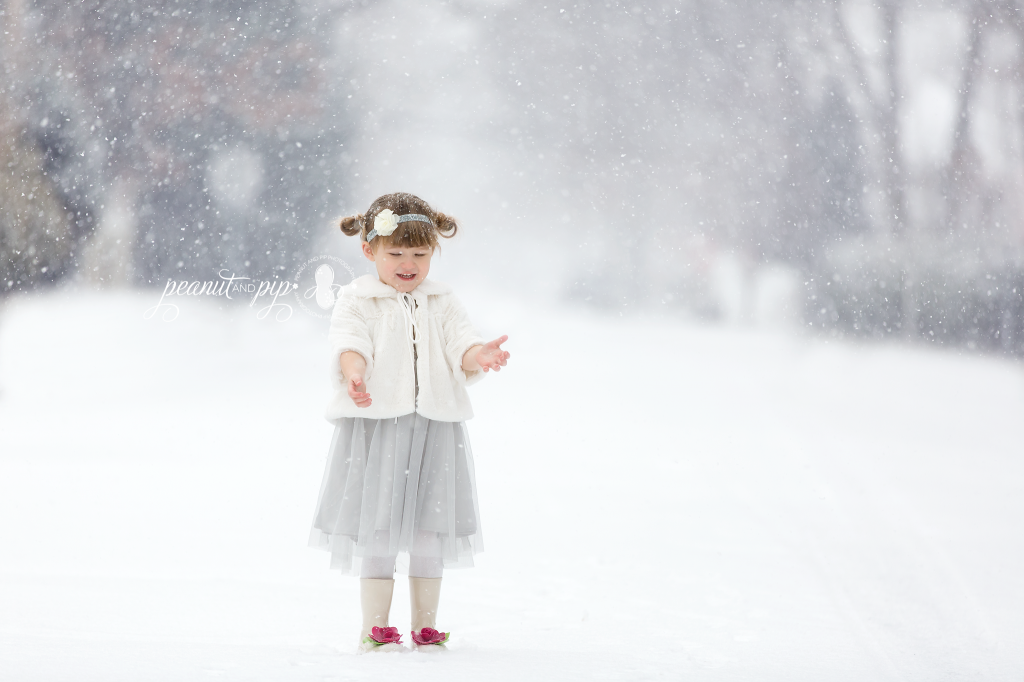 winter snow styled girl