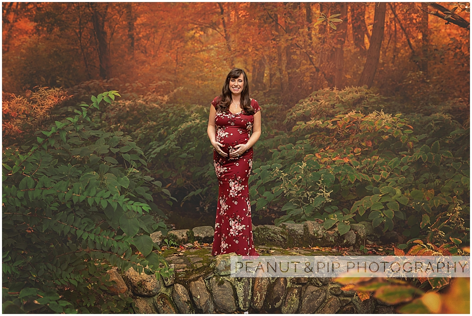 Fall maternity photo session